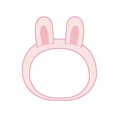 もちころりん着せかえシリーズ ウサミミカチューシャ ピンク